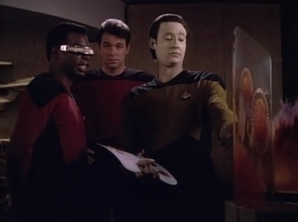 geordi and data and riker let s watch star trek