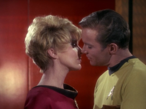 """In """"Court Martial"""" a past love is the prosecutor against Kirk. She needless tries to defame his character when all along she had video evidence that would have won for her side. But I guess they still like each other"""