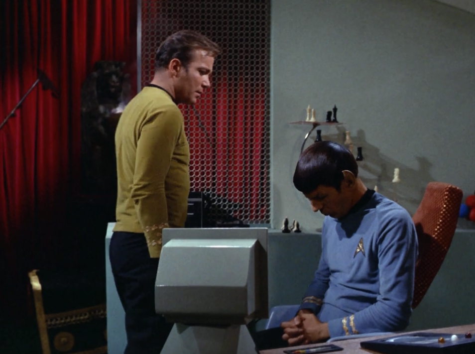 I like how Spock is embarrassed about the whole Pon Farr thing