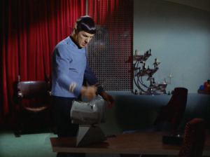 Spock doesn't want to hear any messages!!