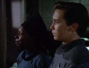 They establish Guinan as a counselor-type
