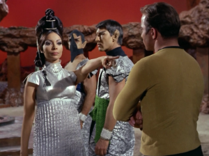 T'Pring picks Kirk as her champion to fight Spock