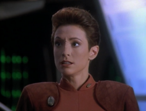 But Li Nalas was appointed to be the new liaison to DS9 instead of Kira! I guess we're supposed to be worried, but I like Li Nalas