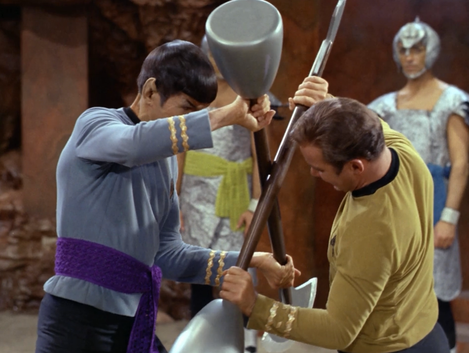 Kirk and Spock fight to the death