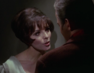 """In """"City on the Edge of Forever"""" Kirk falls in love with Joan Collins. It's a great episode, but don't watch it if you're looking for a romantic ending"""