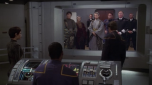They make it to the Vulcans and give the evidence showing their innocence in the death of the colonists. Soval says he still thinks the mission should be cancelled and that Archer is reckless. Archer says he once saw a gazelle being born.