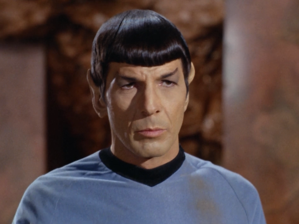 "Spock tells the other guy he can have her. Spock: ""'Wanting' isn't the same thing as 'having,' sucker""."