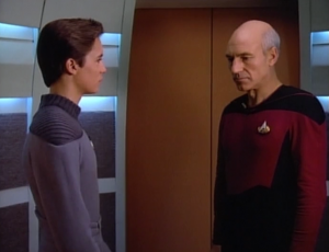 Picard still doesn't seem to like Wesley, but they explain where Beverly went. She became head of Starfleet Medical