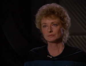 I like the introduction to Pulaski. It's a good way of demonstrating that she doesn't really care about protocols, just helping people. Oh wait, us trekkies are supposed to hate Pulaski. Booo Pulaski