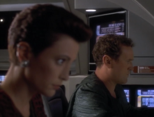 Kira and O'Brien go to rescue the Bajoran guy, but they detect bunches of Bajorans being held. Their transporter can only beam two people at a time so they plan a raid!