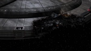 Enterprise still has the damage from the last episode