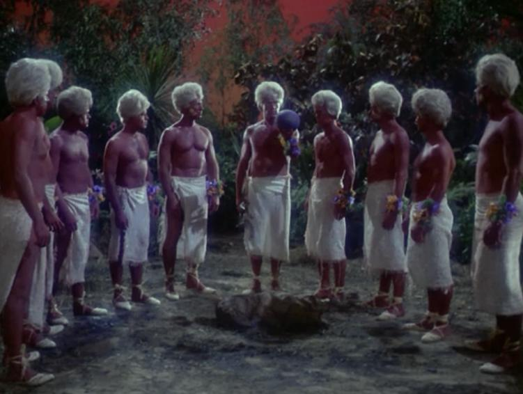 Their robot leader, Vaal, decides Kirk and the rest need to be killed so he sends this crack team of dudes. Couldn't Vaal have killed them with the lightning?