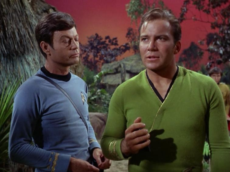 """Kirk finds out that Enterprise is going to be destroyed along with all of the crew, and the last thing he says to Scotty is """"You're fired"""""""