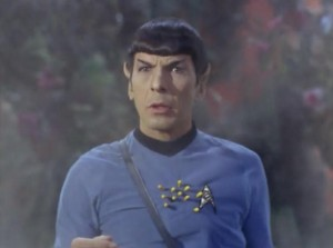 Then Spock gets shot by a flower! It doesn't bother him for too long though