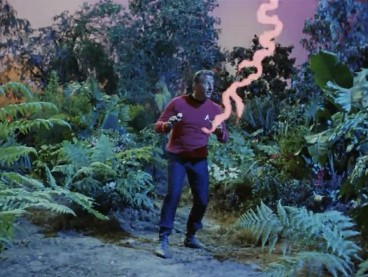 Then a red shirt gets struck by lightning and dies