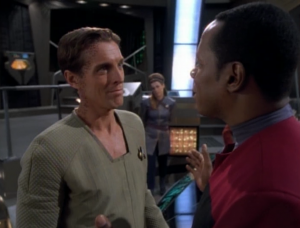 Sisko tries to reason with Verad Dax, since they're old friends now