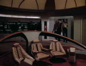 Riker and Worf go and check it out