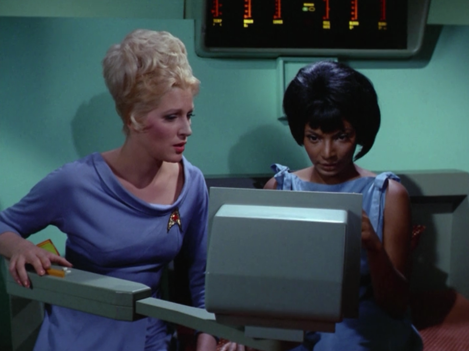 Nomad says it whipped Uhura's memory. She seems to remember some Swahili but she has to re-learn English.