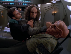 Was it Quarks plan to get injured, have Bashir request help in fixing him, and have Bashir knock out the guy?