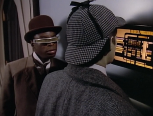 Moriarty has taken control of the holodeck!