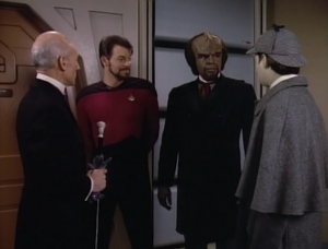 Picard's goin in! Worf actually isn't going in but he just wanted to get dressed up