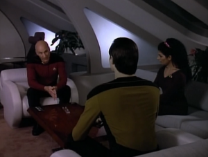 Data comes to ask Picard about death