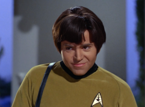 I'm having a hard time following what's going on because every time Chekov's hair is on screen I find myself mesmerized by it, unable to think about anything else.