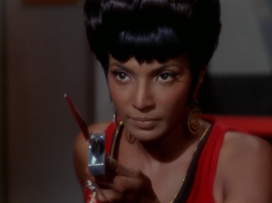 Uhura gets some action in this episode