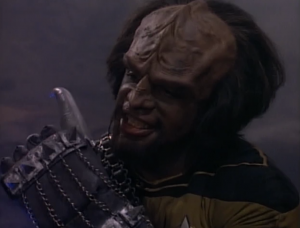 Worf and Riker are doing a training program