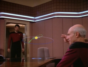 Picard is trying to figure out an orbit of a planet.
