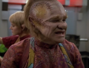 The love triangle with Kes, Neelix and Paris is really hard to watch