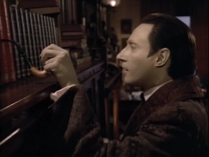 If you didn't guess from the title, this episode is about Data pretending to be Sherlock Holmes