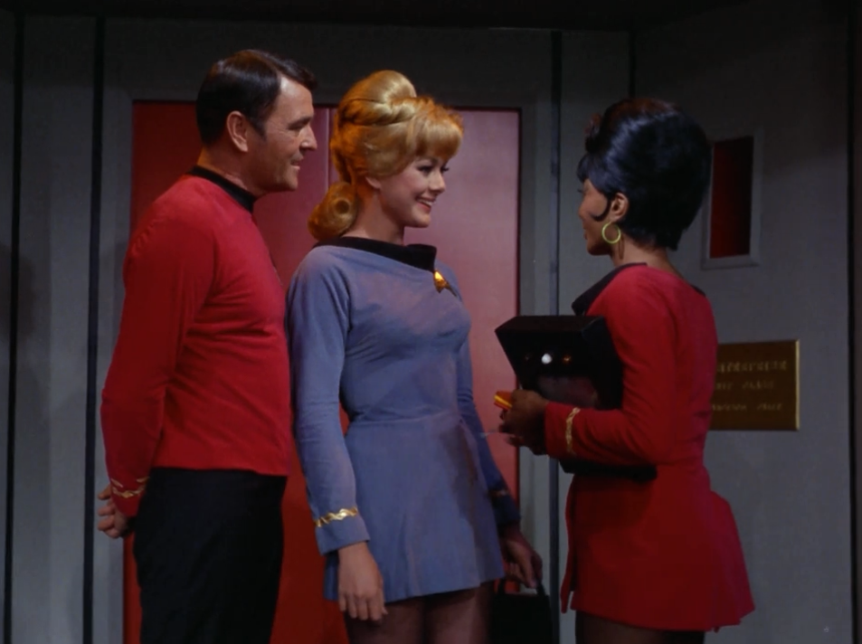 Scotty's got a crush! That's not so subtle eavesdropping there Scotty.