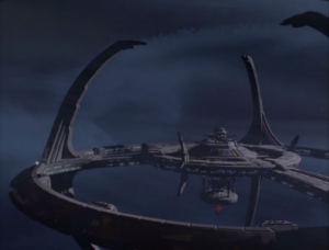A storm comes for DS9 so everyone leaves except for a skeleton crew