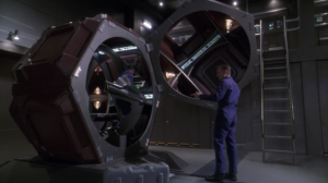 Trip and Mayweather prepare a rescue in the Suliban ship they had laying around. It's nice that the writers remember some of the stuff that's happened, but they probably could've used this several times before now