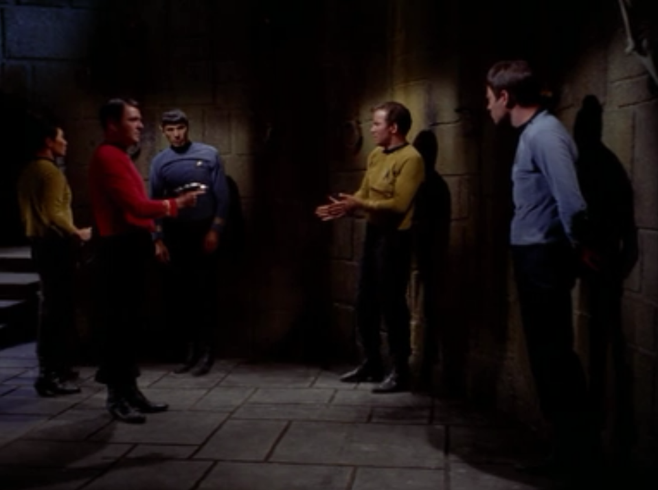 They see Scotty and Sulu but their minds are gone