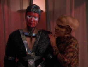 They mention the Dominion! If you want to do business in the Gamma quadrant you have to deal with the dominion