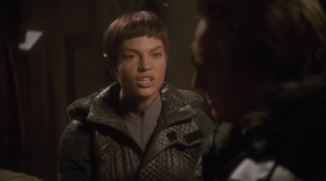 T'Pol questions whether the Vulcans are in the right. She forgot about the time she killed his partner