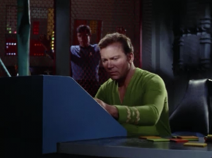 Meanwhile Kirk is still back on the Constellation trying to get it running