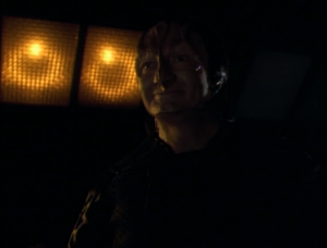 Garak watches Bashir sleep