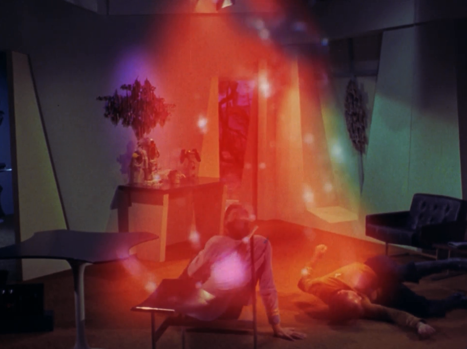 Kirk decides to attack the companion. It doesn't go so well