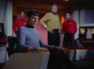 Spock takes command back from Decker