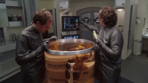 They put Porthos in water