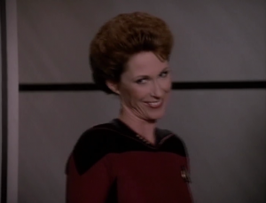 The lady ends up ruling that Data should have choice. Does that mean he isn't considered property and should be allowed to resign (to avoid the transfer)?? Will we ever see Data again?? She also agrees to dinner with Picard. Gross