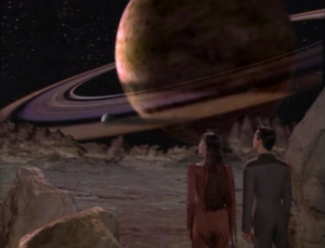 Wesley takes Salia to the holodeck. He says they've explored 19% of the galaxy. Didn't they say it was 11% in the first season? The federation's been busy