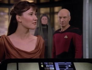 Enterprise is transporting a young leader/peace maker to a waring planet