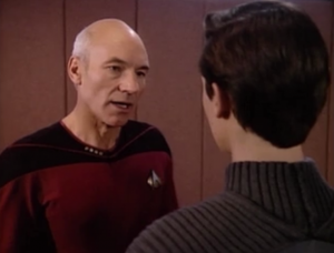 Picard says Wesley isn't allowed to see Salia again, because her guardian is a total psycho
