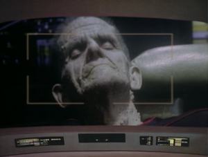 Enterprise comes across a ship that has old dead people in it