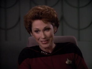 Picard reconnects with a woman from his past! They have a gross relationship, bouncing between being very insulting to outrageous sexual advances
