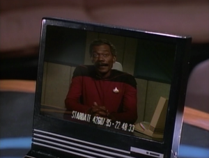 Picard reviews the Yomato captain's logs to find out more about why he was in the Neutral Zone. He says that he discovered Iconia, a planet belonging to an ancient super advanced race. He wanted to acquire their advanced technology so it wouldn't fall into the hands of the Romulans